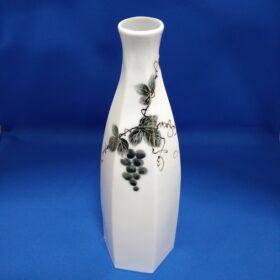 波佐見焼 政右エ門窯 手描き六角花瓶 高さ約26cm